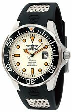 Invicta Mens 47mm Grand Diver Automatic Lume Dial Black Polyurethane Strap Watch