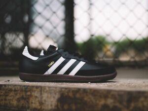 Adidas Originals Samba Fashion Trainers Black White  All Sizes UK 6 -12