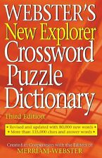 Websters New Explorer Crossword Puzzle Dictionary by Merriam-Webster