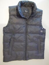 Bass Mens Puffer Vest Charcoal Gray Small #62