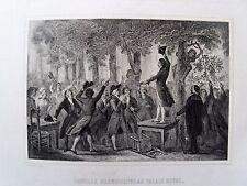 bi4-44 Gravure XIXe Camille Desmoulins au palais royal
