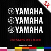 Stickers YAMAHA 3 Autocollants Moto Adhésifs Déco Scooter Bécane