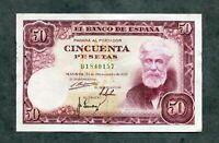 BILLETE  50 PESETAS 1951 SERIE B 18040157  EBC