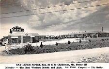 Missouri Mo Postcard Real Photo RPPC c1950 CHILLICOTHE Sky Liner Motel Roadside