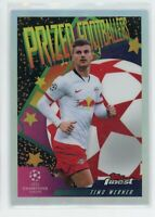 2020 Timo Werner Topps Finest UEFA Champions League Prized Footballers Silver
