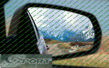 Honda Civic Sport Ep2 Rising Sun Etch Glass / Frosted Wing Mirror Sticker x2 jdm