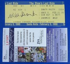 WILLIE SHOEMAKER SIGNED ORIGINAL BET TICKET LAST RACE SANTA ANITA JSA COA L81847