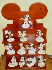 LENOX MICKEY FOR ALL SEASONS SET OF 12 FIGURES WITH WOOD SHELF