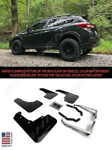 Rally Armor UR Black Mud Flaps w/ Grey Logo for 2018-2021 Subaru Crosstrek