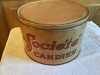 WOW! Advertising Vintage Imperial Candy Co. Seattle Societe Candies Metal Tin #1