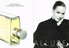 PUBLICITE ADVERTISING 025  1997  CHANEL  parfum femme ALLURE (2p)