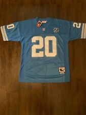Barry Sanders Detroit Lions Throwback Mens Jersey Size 56 Free Shipping (B)