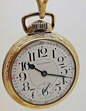 16 SIZE WALTHAM PS BARTLETT 17 JEWEL POCKET WATCH MODEL 1908 MADE IN 1928 - 12C