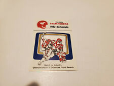 Rsc20 Calgary Stampeders 1982 Cfl Football Pocket Schedule Card - Labatt's