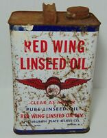 Vintage 1950s RED WING OIL GAS OIL CAN Gallon Can Minnesota Newark New Jersey