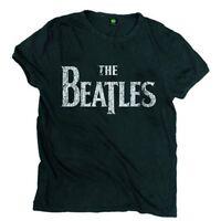 The Beatles Drop T Logo Vintage Official Merchandise T-Shirt M/L/XL Neu