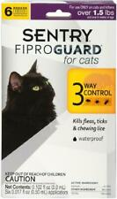 Sentry Fiproguard Flea and Tick Topical for Cats, 1.5 lbs and Over, 3 Month Supp