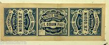ENSEMBLE DE 3 ETIQUETTES POUR UNE BOITE BISCUITS VANILLES 1.E 1910-1920