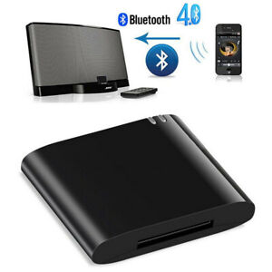 Music Receiver Audio Adapter Bluetooth 4.1 for iPod iPhone 30-Pin Dock Speaker
