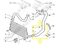TUBO TURBO ARIA INTERCOOLER ALFAROMEO 159 1900 JTD 16V codice originale 50506150