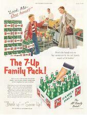 1953 Seven 7 Up Vintage Bottle Case Carton PRINT AD
