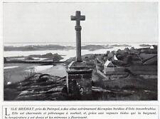 22 ILE DE BREHAT CROIX IMAGE 1920 OLD PRINT