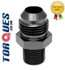 "AN -12 (AN12 AN 12) to 1/2"" NPT Straight Adapter BLACK"