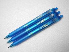 3 pcs PILOT  FRIXION/ ERASER Pilot retractable  0.7mm roller ball pen Light Blue