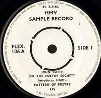 "JOHN SMITH introduces hmv's pattern of poetry 7"" WS EX/ demo uk hmv FLEX 106"
