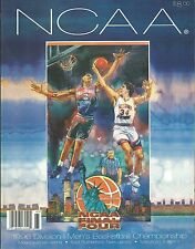 1996 NCAA Final Four 4 Basketball Game Program Kentucky UMass Syracuse MSU Hoops
