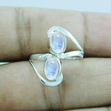 Adjustable Toe Ring Sz-6 btr-385 Designer Rainbow Moonstone 925 Sterling Silver