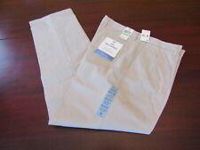 mens dockers best pressed pleated khaki pants 34x34 nwt $62 stone