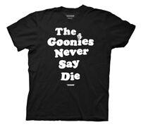 The Goonies Never Say Die Mens Black T-Shirt