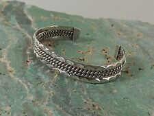 Tahe Sterling Silver Cuff Bracelet Rope (L135)