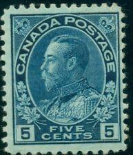 CANADA #111 5¢ dark blue, og, LH, F/VF, Scott $175.00