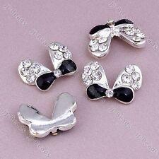 10 pcs 3D Alloy Bowknot Diamante Crystal Rhinestone Sticker For Nail Phone Tips