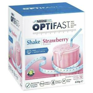 Optifast Strawberry Shakes 12x53g Sachets Low Calorie Diet for Weight Loss