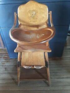 Vintage Antique High Chair