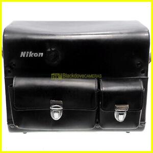 Bauletto Nikon in pelle per attrezzatura. Borsa anni '60. Valigetta cuoio. Bag