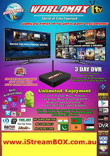 WorldMAX HD IPTV Box,FREE Lifetime ENGLISH,TURKISH,GREEK,PERSIAN LIVE TV,Sports