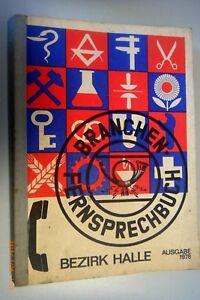 Branchen - Fernsprechbuch Bezirk Halle / Deutschen Post Ausgabe 1978