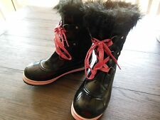 Girls Justice Winter Snow, Rain Boots Size 4