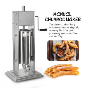 7L Manual Spanish Donuts Churrera Churros Machine Hopper Size Φ140*460MM 4 Mould
