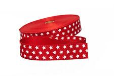 1 M rojo planos inclinados banda con blancos estrellas 18 mm