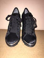 DKNY ADAIR calf Hair Leather Heel Trainer Sports Shoe UK6 EUR39 US 8.5 RRP£270