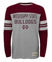"NCAA Mississippi State Bulldogs Kids & Youth Boys ""Legacy Tee"" Long Sleeve Crew"