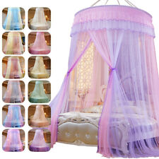 Lace Bed Mosquito Netting Princess Style Round Dome Net Elegant Bedroom Decor