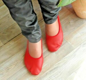 Schläppchen Gymnastikschuhe MajestiBallerina Softlederschuhe soft leather red