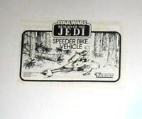 VINTAGE! Kenner 1983 STAR WARS ROTJ Speeder Bike Instructions FREE SHIPPING!