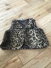 GORGEOUS ZARA KIDS FAUX FUR LEOPARD PRINT GILET/JACKET 2-3 YRS VGC